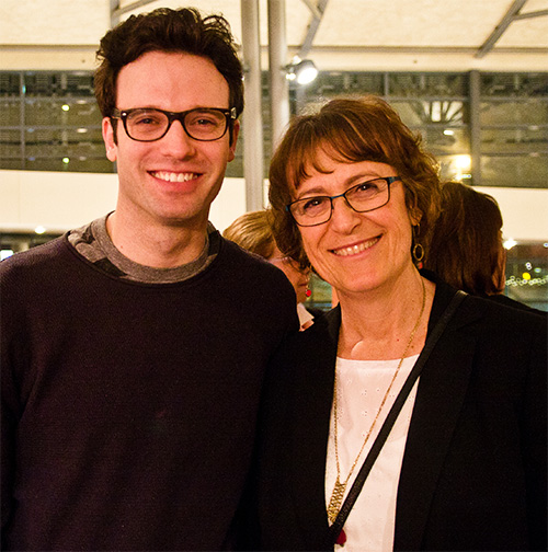 Therefore Choose Life playwrights Kathy Kacer (R) and Jake Epstein at their world premiere showcasing Eli's Place.