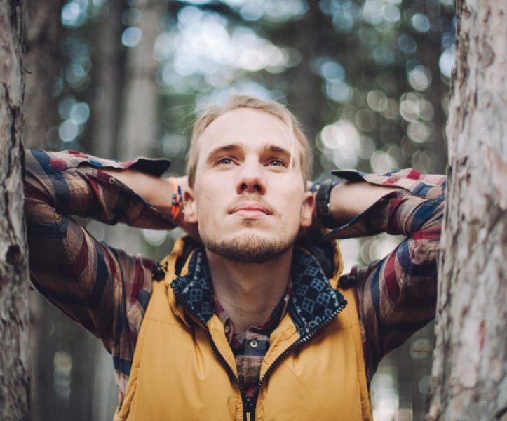 Male Portrait In Woods